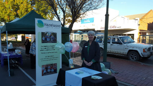 Susan Denny at a Hazelwood Health Study stall.